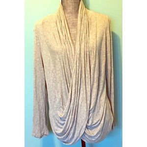 Ginger G Drape Crossover Lightweight Sweater Shrug